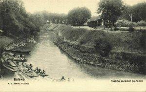 indonesia, JAVA BATAVIA, Railway Station Meester Cornelis (1899) Postcard