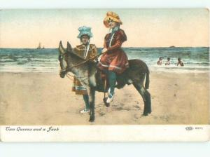 Divided-Back PRETTY WOMAN Risque Interest Postcard AA7783