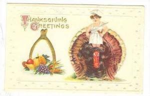 Thanksgiving Day  boy chef rides giant turkey,  00-10s
