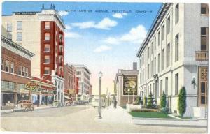Linen Card of North Authur Avenue Pocatello Idaho ID