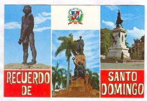 Dominican Republic; Santo Domingo, 50-70s: 3-view postcard