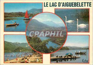 Postcard Modern Lake Aiguebelette (Savoie) At the foot of the mountain of the...