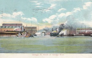 CHICAGO, Illinois, PU-1908; Mouth of Chicago River