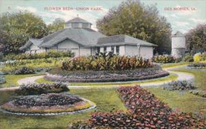 Iowa Des Moines Flower Beds Union Park