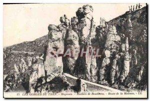 Old Postcard Gorges Du Tarn Meyrneis Bouilleres Rock Road Malenes