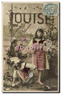 Old Postcard Louise Surname