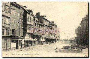 Postcard Old Honfleur Old Houses