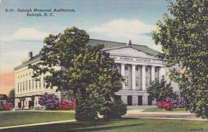 North Carolina Raleigh Memorial Auditorium