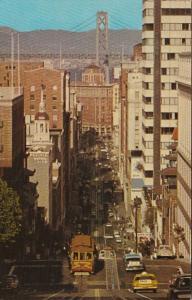 California San Francisco Cable Car On California Street