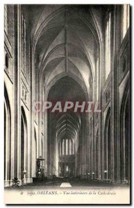 Old Postcard Orleans Inside view of the Cathedral