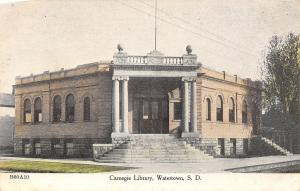 Watertown SD Carnegie Libarary~Grand Staircase to Corner Entrance c1910