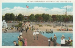 CLEVELAND, Ohio, 1910s; Lake Front from Pier, Euclid Beach Park