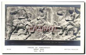 Old Postcard Parthenon Frieze Of West Side British Museum
