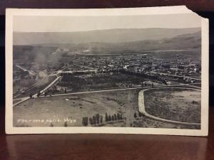 RPPC 1920s Aerial View Thermopolis, Wyoming by Lindstad Studio Z3