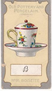 Cigarette Card R J Lea Chairman Old Pottery and Porcelain 2nd series No 91