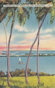 Condado Bay Bridge San Juan Puerto Rico 1939 to Pittsburg Kansas Postcard B35