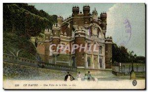 Old Postcard Le Havre A Villa De La Cote