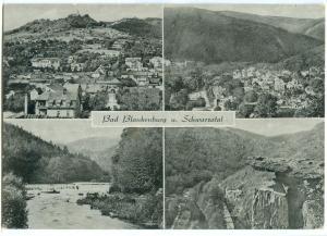 Germany, Bad Blankenburg u Schwarzatal, 1965 used Postcard