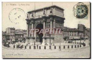 Old Postcard Marseille La Porte d'Aix