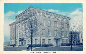 1915-1930 Postcard; Court House, Blytheville AR Mississippi County Unposted