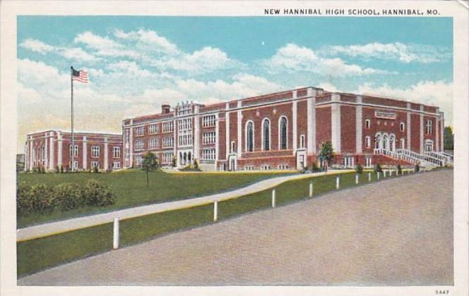 New Hannibal High School Hannibal Missouri Curteich