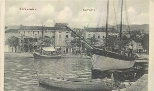 Postcard Croatia Cirkvenica Hafenteil sea boat sail fishing