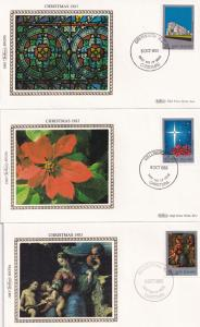 Christmas 1982 1983 SIX Lifeboat Flowers New Zealand Benham First Day Cover s