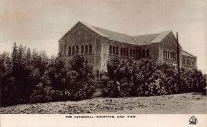 Sudan The Cathedral Khartoum East View Postcard
