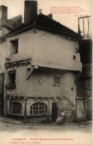 CPA CLAMECY - Vieille Maison rue du Pont-Chatelain (517998)