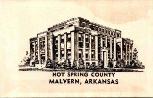 Arkansas Malvern Hot Spring County Court House Real Photo