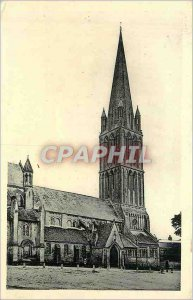 Postcard Old Bernieres sur mer the church xii and xiii s