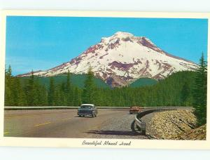 Postcards Mt Hood 1950s cars Oregon # 751A