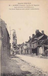Guerre 1914-1916, Street Bapaume after several bombardments, ALBERT, Somme, F...