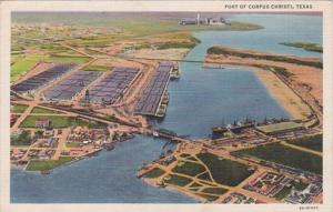 Texas Corpus Christi Aerial View Of Port Curteich