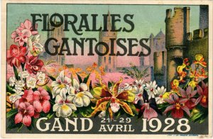PC CPA ADVERTISING, FLORALIES GANTOISES, VINTAGE POSTCARD (b9835)