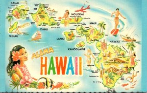 Hawaii Aloha With Map Of The Islands