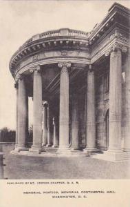 Washington DC Memorial Portico Memorial Continental Hall Albertype