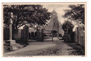 B&W, Maughold Church & Cross, Graveyard, Ramsey, Isle of Man