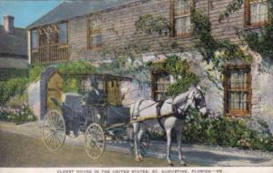 Florida St Augustine Horse and Carriage At Oldest House In The United States
