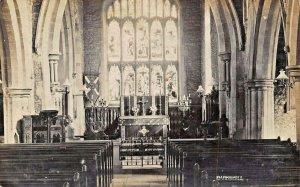 BARNWELL NORTHAMPTONSHIRE ENGLAND~INTERIOR OF CHURCH~1900s REAL PHOTO POSTCARD