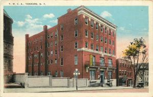 1920s White Border Postcard; Y.W.C.A. Yonkers NY Westchester County posted