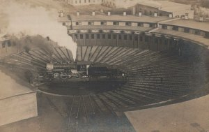 Maine Central 502 Train Getting Work Done In Spiral Real Photo Vintage Postcard