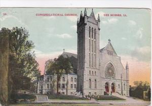 Iowa Des Moines Congregational Church 1910