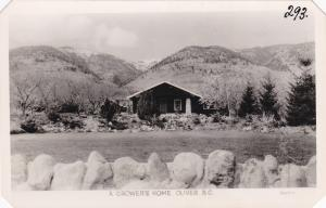 RP; OLIVER, British Columbia, Canada; A Crower's Home, 1950s