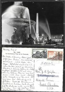 France Paris, Place de la Concorder, mailed to USA