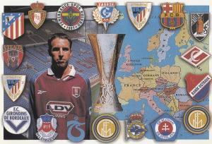 Aston Villa Football Club 1999 European Cup Stadium Painting Postcard