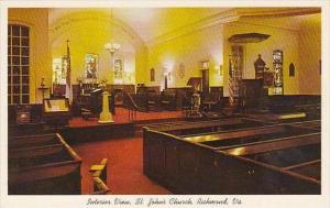 Virginia Richmond Interior View Saint Johns Church