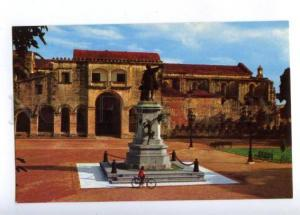 173704 DOMINICANA Santo Domingo Colon Park Old photo postcard