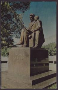 Lincoln and Tad,Iowa State Capital Grounds,IA Postcard BIN