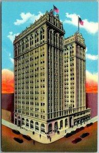 Greensboro NC Postcard Jefferson Standard Life Insurance Building Chrome 1950s